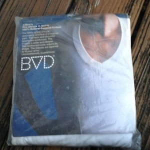 Vintage BVD Mens White V Neck T Shirt XL 46-48 3
